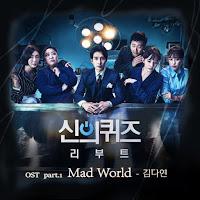 Download Lagu MP3 MV Lyrics Kim Da Yeon – Mad World [Quiz of God : Reboot OST Part.1]