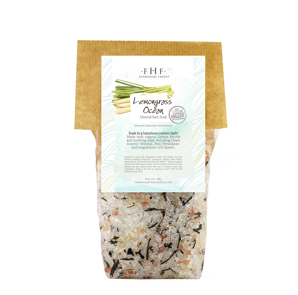 FarmHouse Fresh Organics Lemongrass bath salts