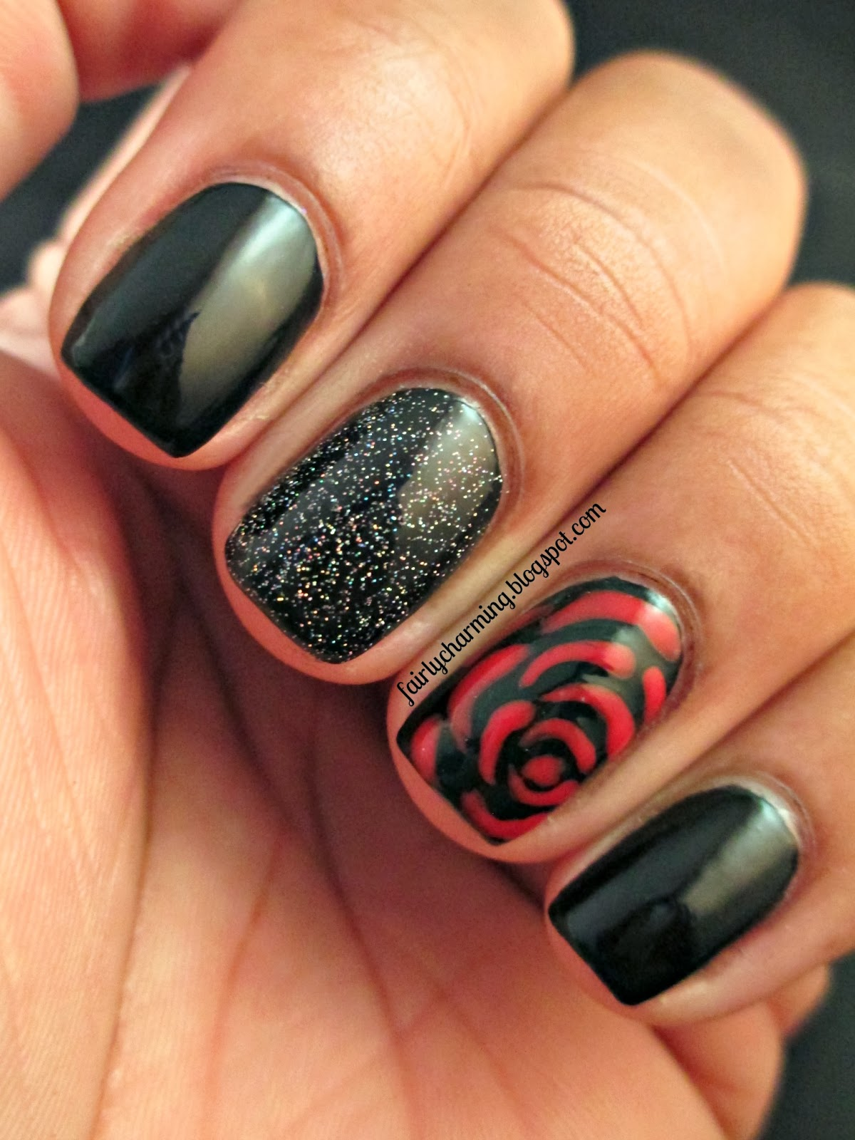 "Rose Nail Net: Fairly Charming: ""Bring Me A Rose..."""