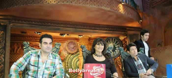 Arbaaz Khan, Archana Puran Singh, Shekhar Suman, Adhyayan Suman, Ariana Ayam for 'Heartless' Promotion on Comedy Circus