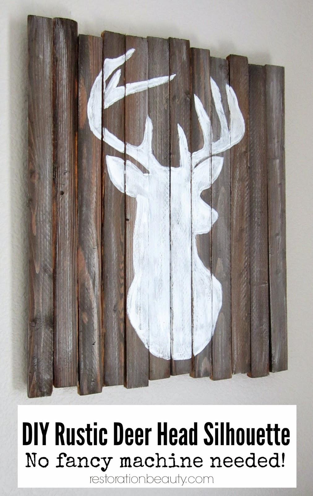 Diy Fancy Nails: Restoration Beauty: DIY Rustic Deer Head Silhouette {no