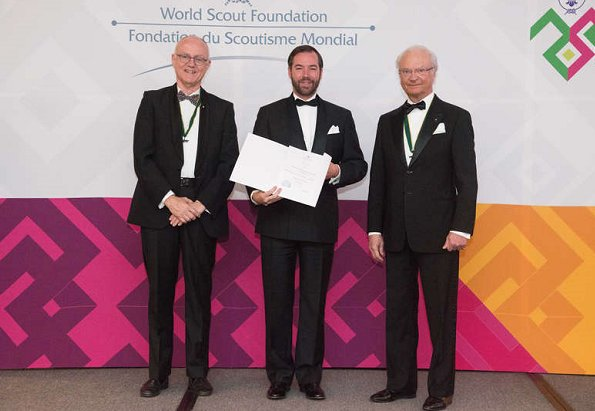 King Carl Gustaf, Queen Silvia and Prince Guillaume attended 71st World Baden-Powell Fellowship Event