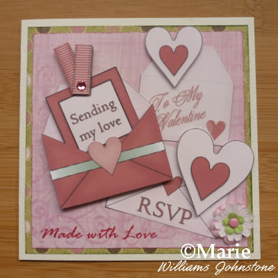 Sending my love Valentine heart card tutorial