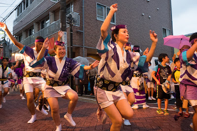 The heat of the moment - dancing their hearts out at the Koenji Awa-Odori Parade, Tokyo, 2016.