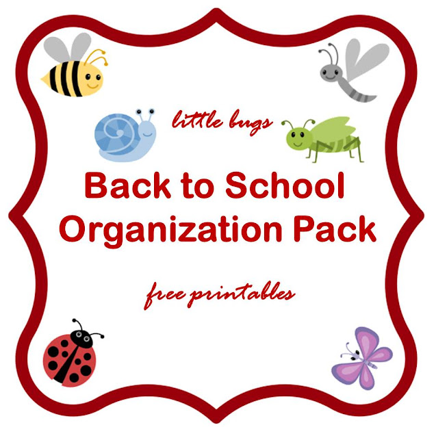 Little bugs Back-to-school organization pack - free printable