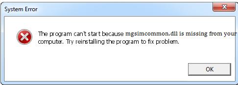 Télécharger Mgsimcommon.dll Fichier Gratuit Installer