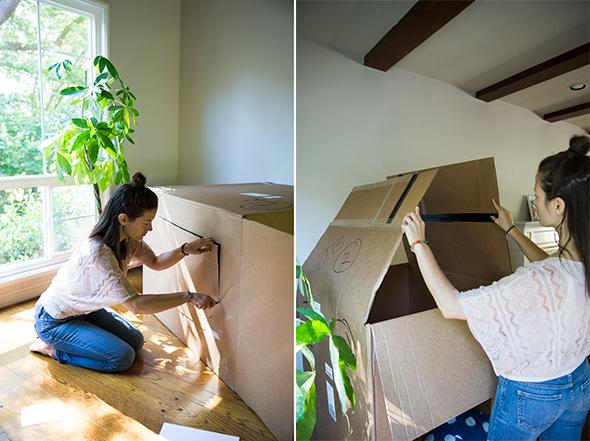 hacer-techo-casa-carton
