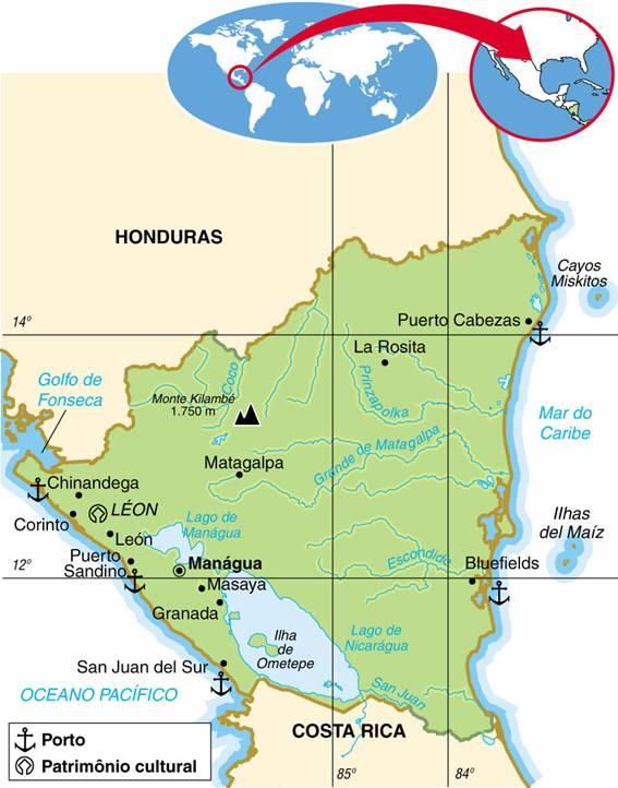 NICARÁGUA, ASPECTOS GEOGRÁFICOS E SOCIOECONÔMICOS DA NICARÁGUA