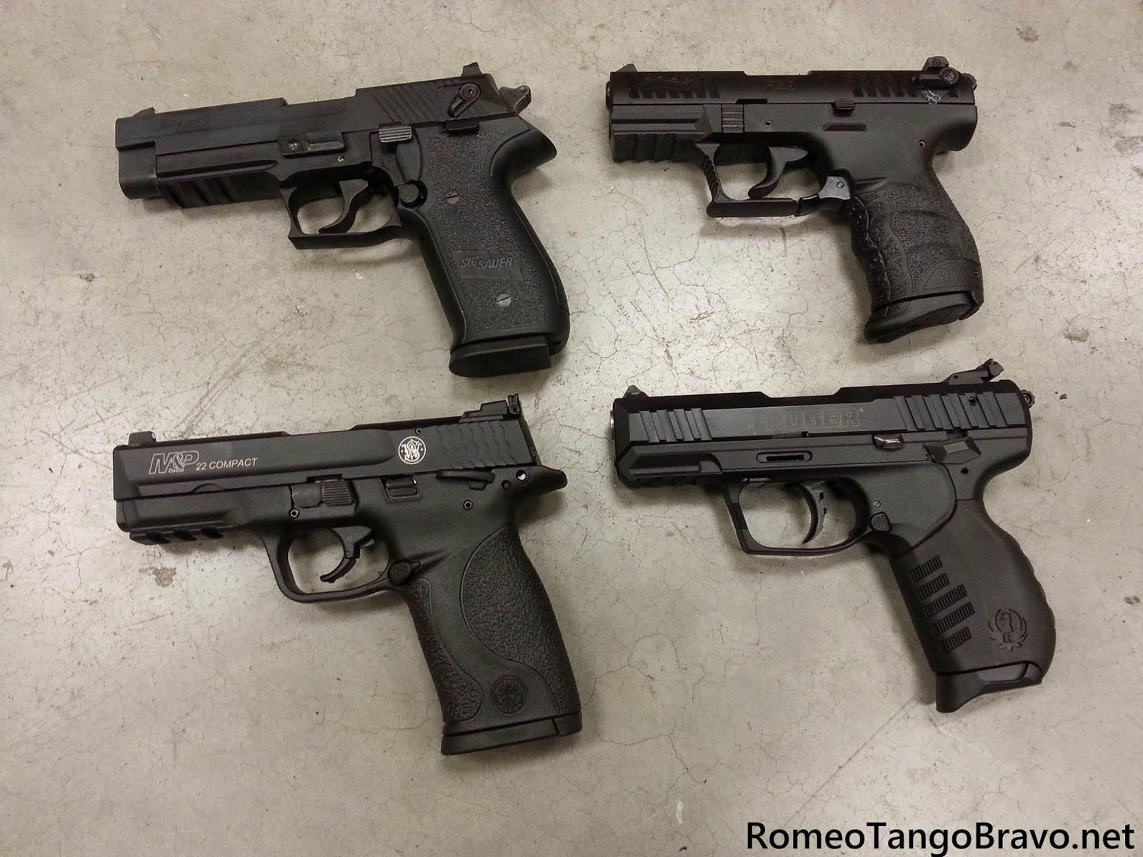 romeotangobravo smith wesson m p 22 compact ruger sr22 walther