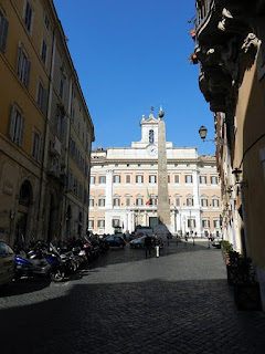 The Palazzo Montecitorio in Rome, seat of the Chamber of Deputies