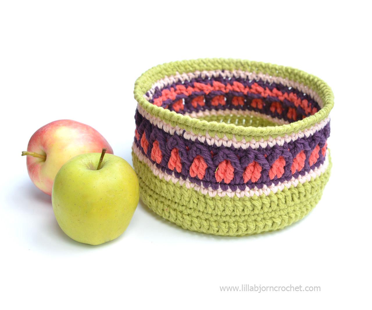 Fall Apple Basket. Free crochet pattern - by Lilla Bjorn Crochet
