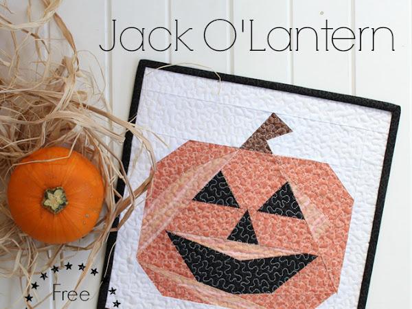 Jack O'Lantern- Free Mini Quilt Pattern