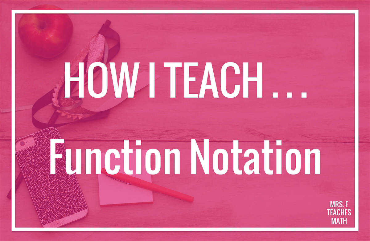 Teaching function notation in math can be tricky!  Algebra students will love this activity while taking notes or filling in their foldables.
