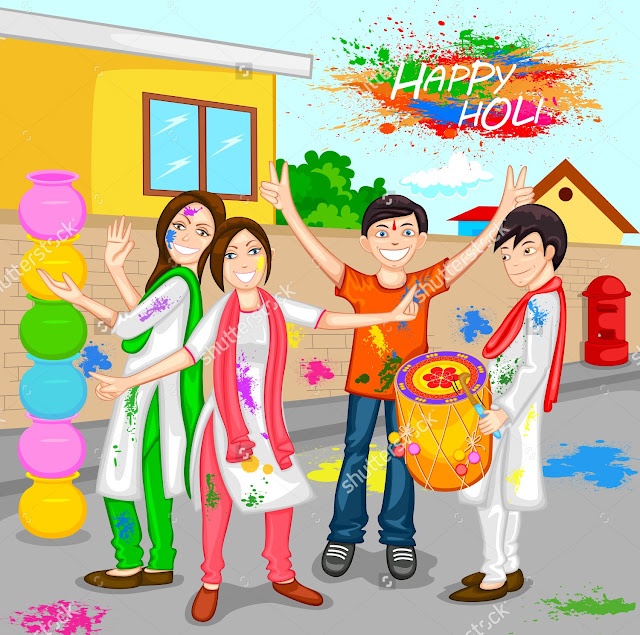 happy holi cute images
