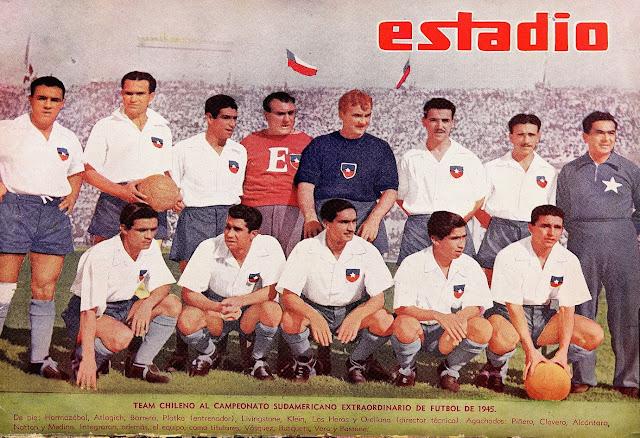 Formación de Chile ante Ecuador, Campeonato Sudamericano 1945, 14 de enero