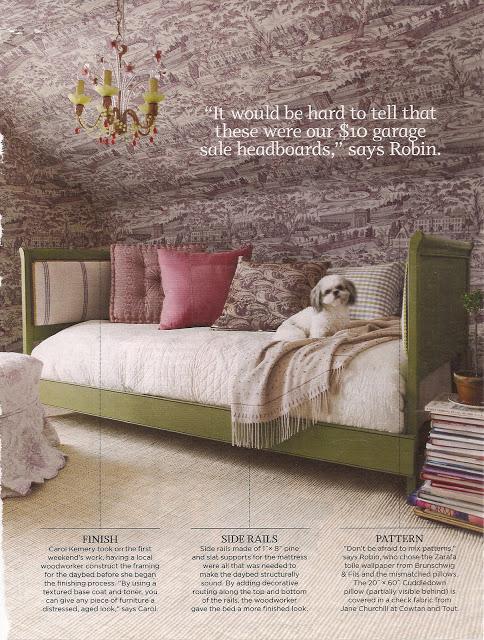 Loft Amp Cottage Upholstering An Antique Bed