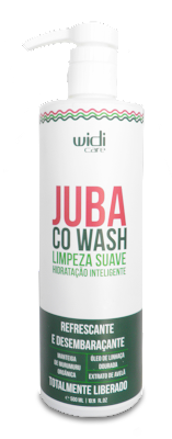 Ingredientes do cowash Juba da widi Care (ingredientes 100% de origem vegetal)