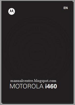 Motorola i460 Manual  Cover