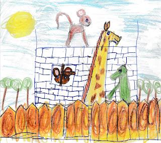 """Эдуард Успенский """"Продолжение историй про крокодила Гену и Чебурашку"""" - Настина иллюстрация"""