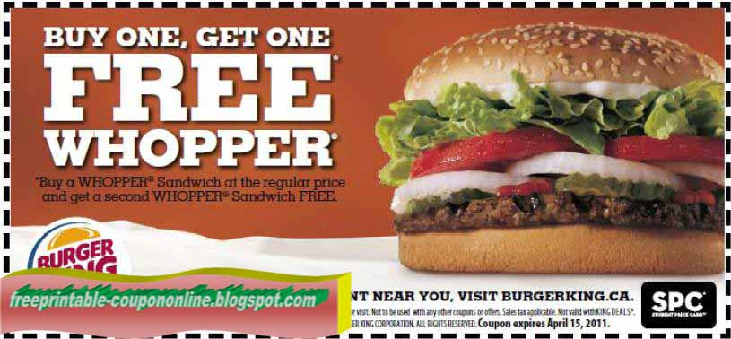 Here are the latest fast food deals including pizza coupons, burger coupons, and promo codes from McDonald's, Burger King, and other burger places. Also find pizza coupons and promo codes at Papa John's, Pizza Hut, Dominos and Papa Murphy's.