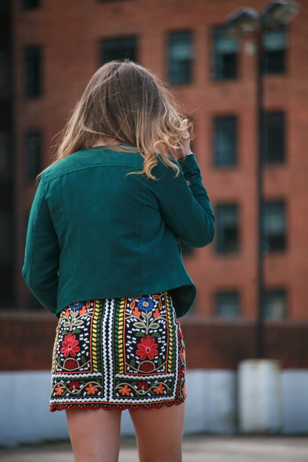embroidered zara skirt