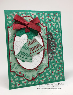 Stampin' Up! Seasonal Bells Bundle, Stamping to Share, Holly Berry Happiness, Christmas Card