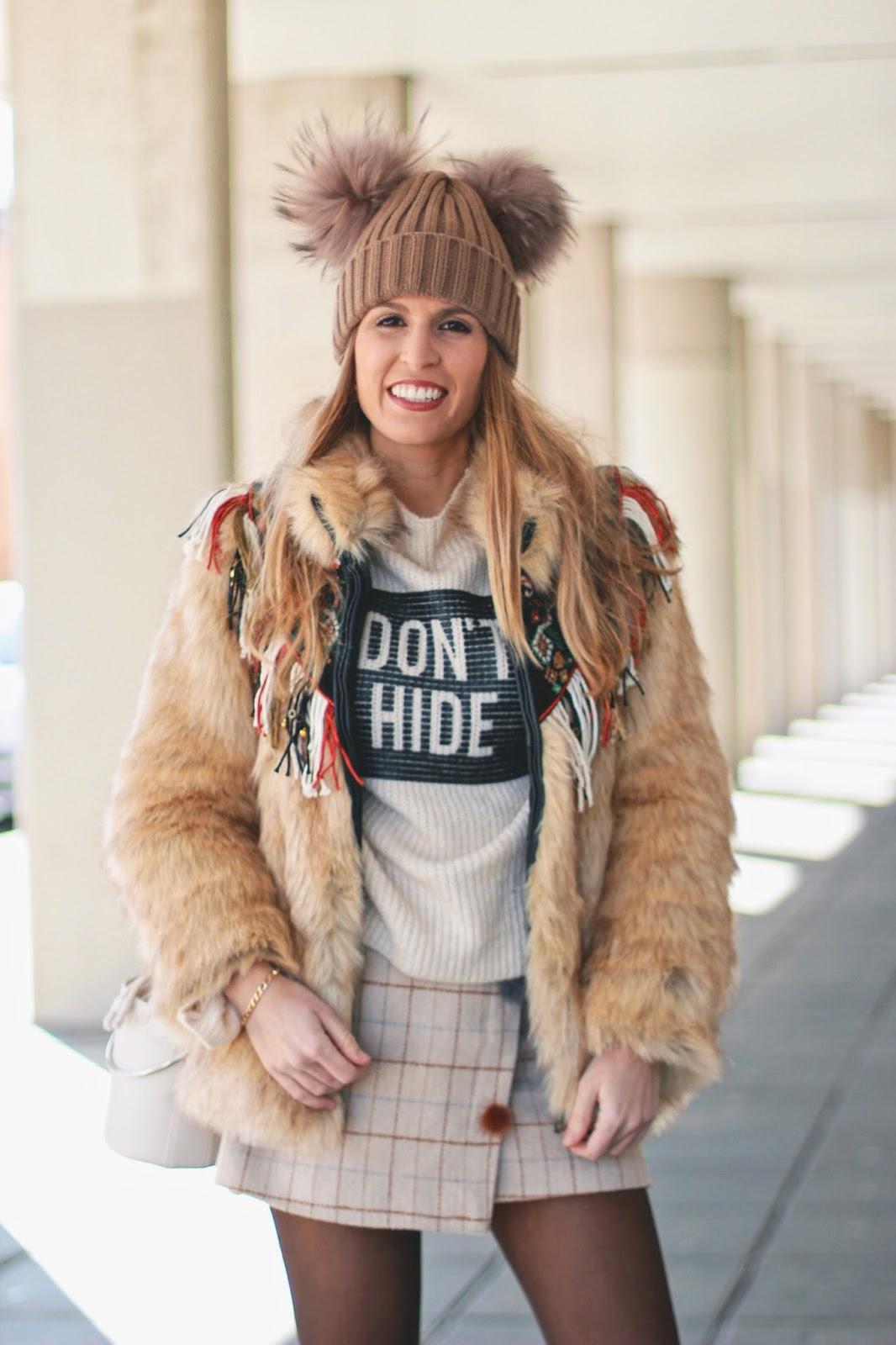 falda de cuadros invierno