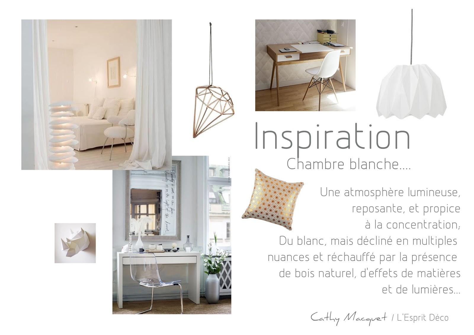 Cathy Macquet  LEsprit Dco Une chambre blanche
