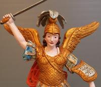 statuetta arcangelo particolari curati a mano idea regalo religioso orme magiche