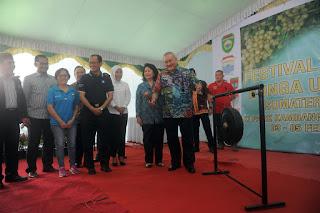 Gelar Festival Buah Dan Bunga, Gubernur Fokuskan Kualitas