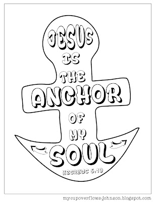 free inspirational Bible verse coloring pages Hebrews 6:19