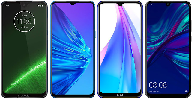 Motorola Moto G7 Plus vs Realme 5 vs Xiaomi Redmi Note 8T vs Huawei P Smart 2019