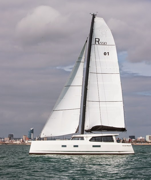 22b53effc54 Why is it unlike any other cruising sailboat  The last sentence above  should have tipped you off. All of the Rapier 550 s control lines are lead  to a carbon ...