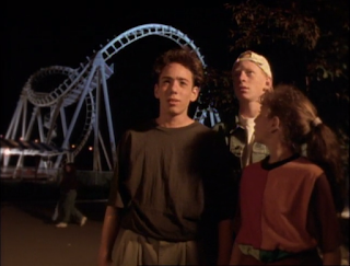 Weegee, Josh and Kathy at the amusement park