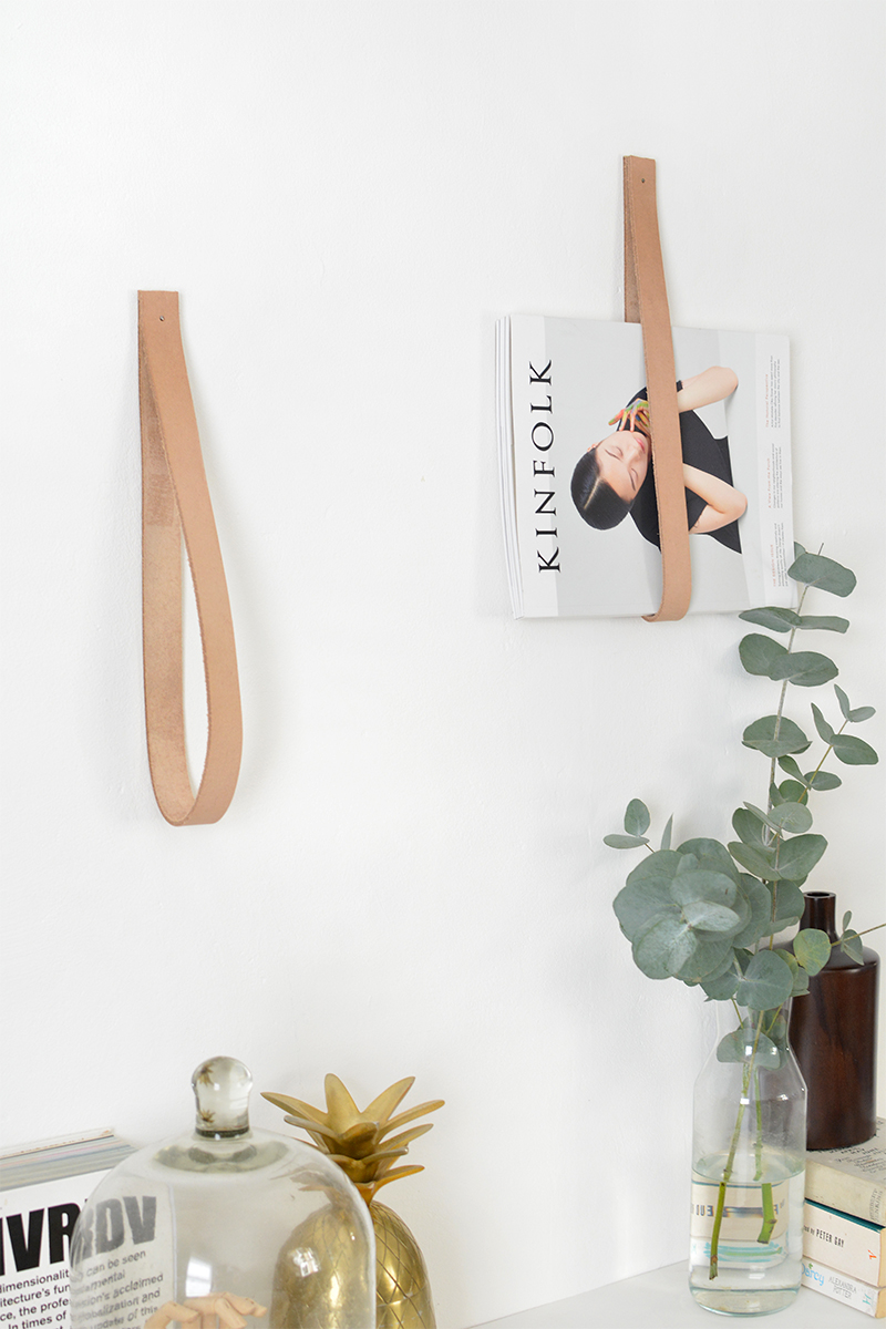 DIY leather magazine holder | BURKATRON