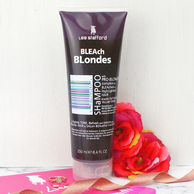 Lee Stafford Hair Bleach Blondes Shampoo and Sea Salt Mud Mask Review Lovelaughslipstick blog