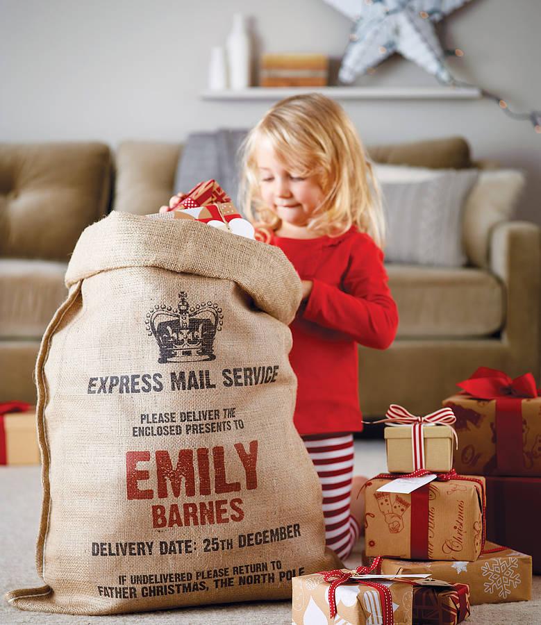 Time For Gifts Personalised Santa Sacks Design Fetish