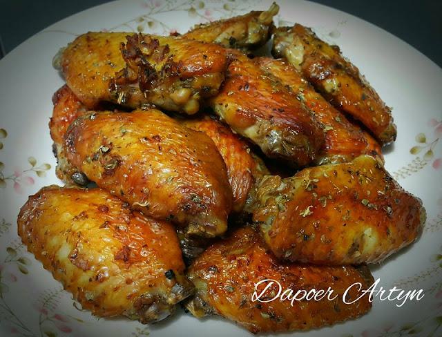 Resep Sayap Ayam Panggang Daun Oregano
