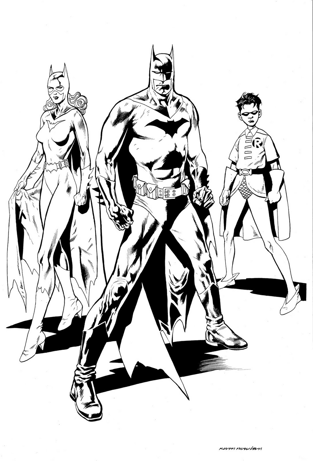 Cartoons Coloring Pages Batman And Robin Coloring Pages