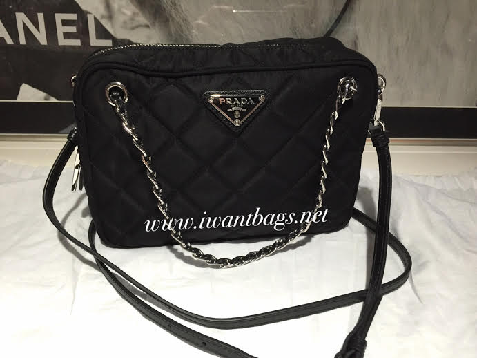 fb00a9f3c9fb I Want Bags backup: PRADA BL0910 Tessuto Impuntu Quilt in Nero -(Pre ...