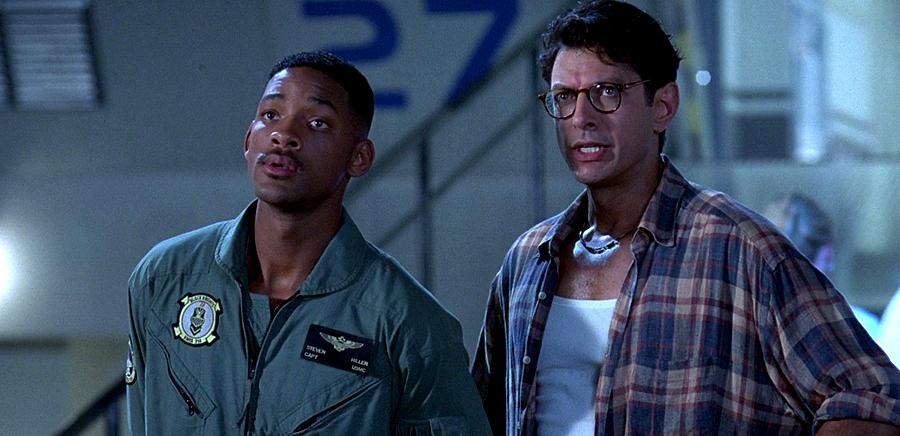 Will Smith şi Jeff Goldblum în Independence Day (1996)