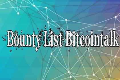 UPDATE: BOUNTY LIST BITCOINTALK