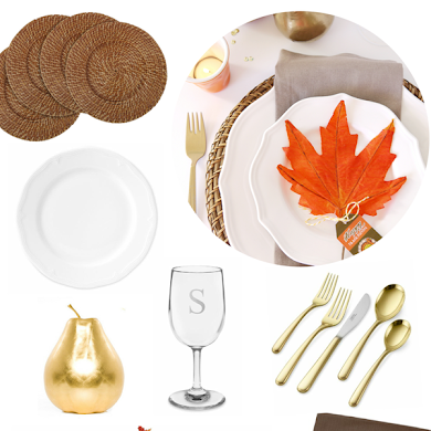 Easy Thanksgiving Table Setting Idea
