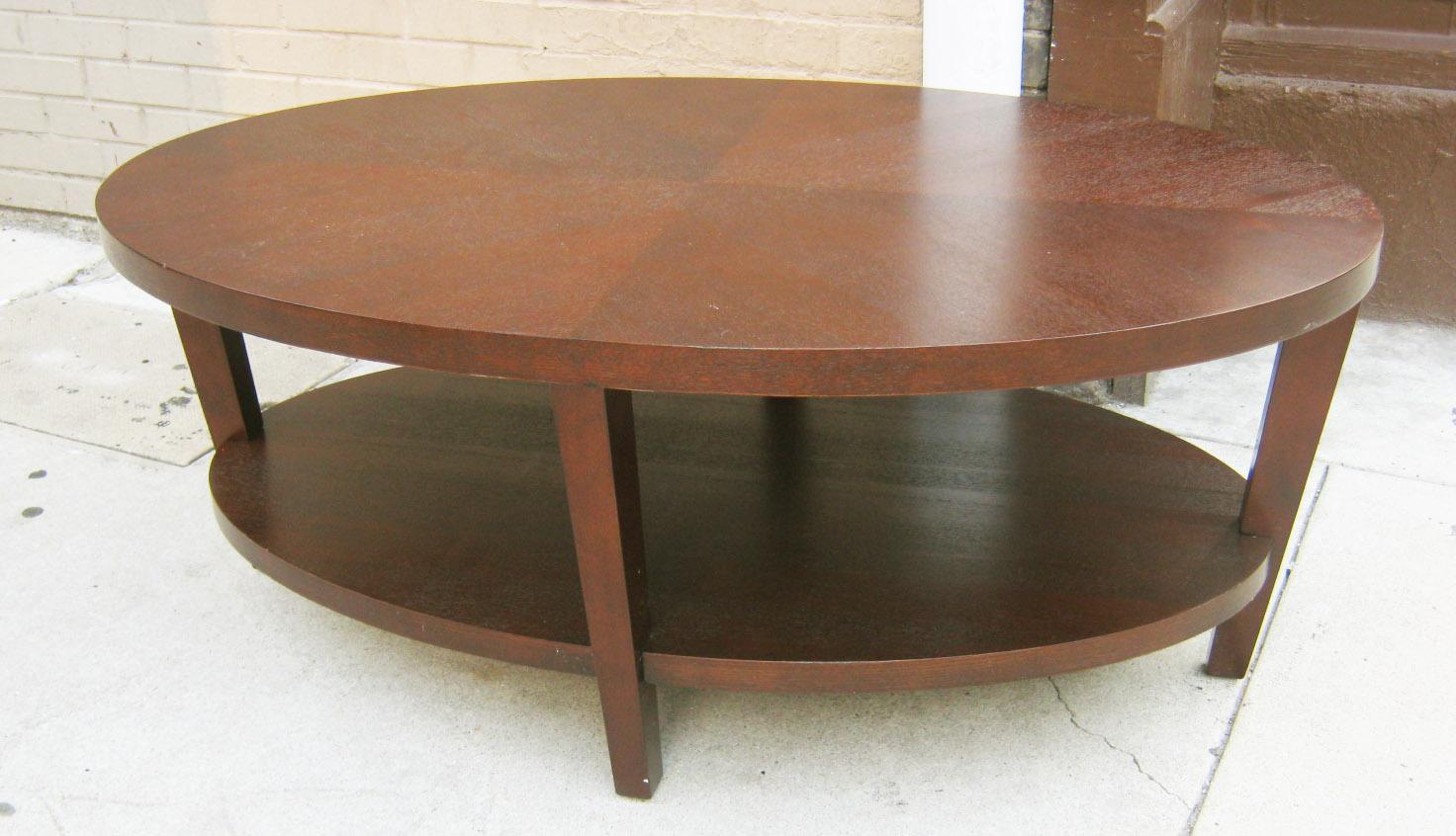 Oval Espresso Coffee Table Sold