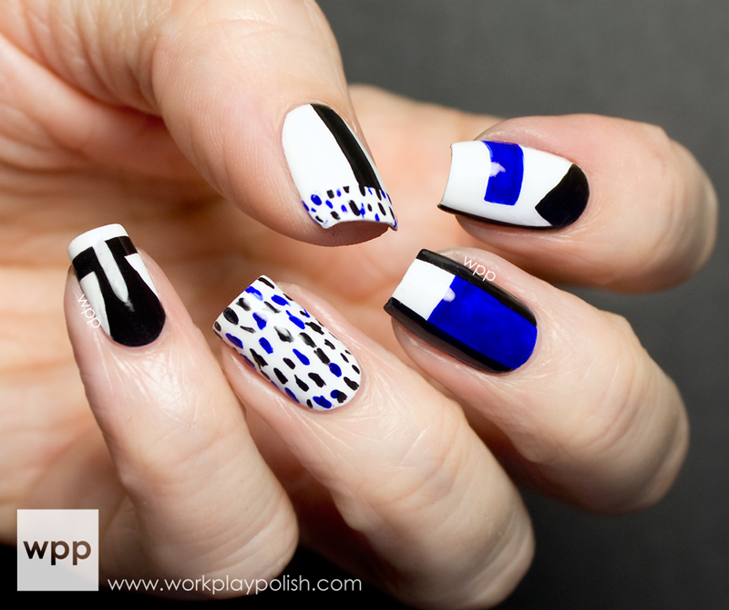 Orly Milly Inspired Abstract Nail Art