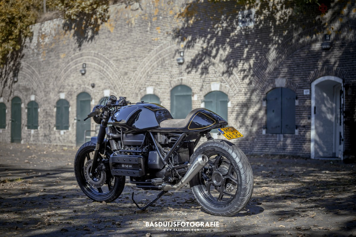 Bmw K100 By Wrench Kings Rocketgarage Cafe Racer Magazine Battery Wiring Harness K100lt The Gas Tank Is From A Lt Cleaner Look Front Fender Different No Idea Which One