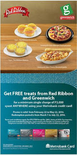 Metrobank Credit Card Promo Red Ribbon Greenwich, Philippine promotion