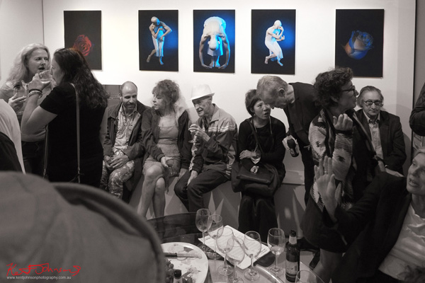 Attendees at Catherine Hourihan at Disorder Gallery - dance inspired images with a contrast of youth and age, beautiful images and really lovely prints. Photography by Kent Johnson.