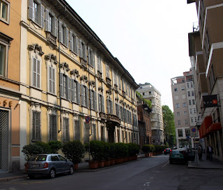 Luchino Visconti's family lived in the 16th century  Palazzo Visconti di Modrone in Milan