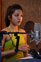 Actress Catherine Tresa Pos during Self Dubbing for Gautham Nanda Movie  0060.JPG